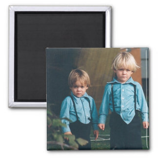 Amish Kids Lancaster County PA  Magnet