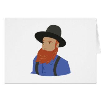 Amish Man Card