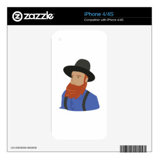 Amish Man Decals For The iPhone 4S