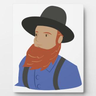 Amish Man Plaque