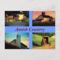 Amish Montage Postcard postcard
