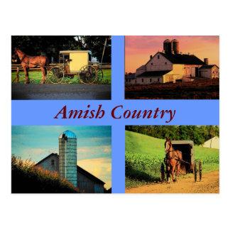 Amish Montage Postcard