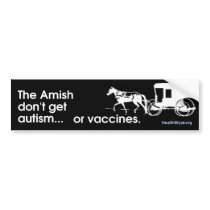 Amish No Autism Bumper Sticker