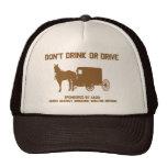 Amish - no beba ni conduzca gorro de camionero
