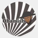 Amish Obama Etiquetas Redondas