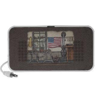 Amish One Room School Room Laptop Speakers