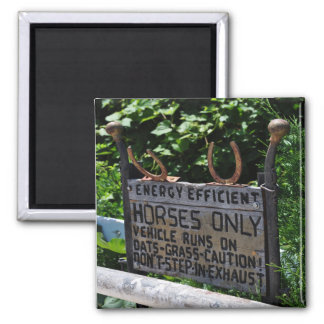 Amish Parking Sign 2 Inch Square Magnet