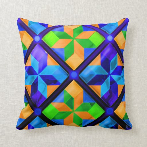 Amish Pinwheels on Steroids v2 Throw Pillows