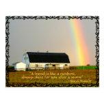 Amish Postcard Proverb Rainbow. FRIENDS