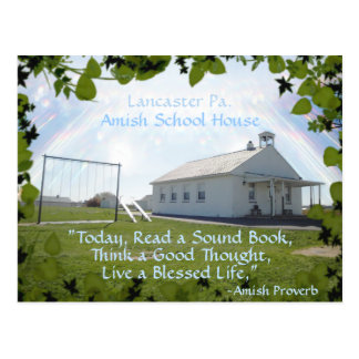 Amish  Postcard,School House. ADD YOUR TEXT Postcard