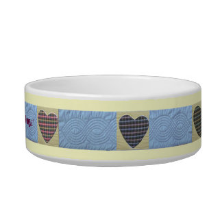 Amish Proverb Dog Bowl! Quilted Design! Bowl