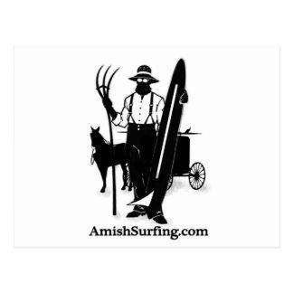 Amish que practican surf y que esquían tarjeta postal