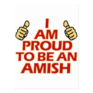 AMISH religious designs Postcard