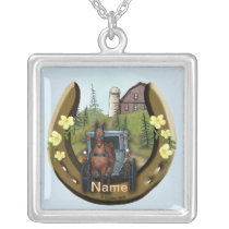 Amish Road Trip Silver Plated Necklace