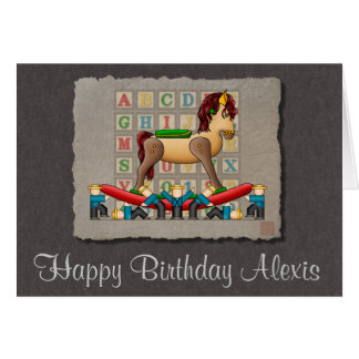 Amish Rocking Horse Greeting Card