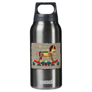 Amish Rocking Horse Insulated Water Bottle