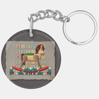 Amish Rocking Horse Keychain