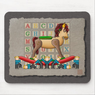 Amish Rocking Horse Mouse Pad