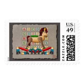 Amish Rocking Horse Stamp