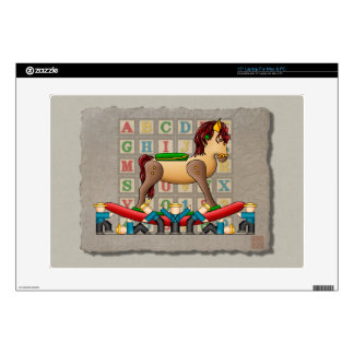 """Amish Rocking Horse Decal For 15"""" Laptop"""