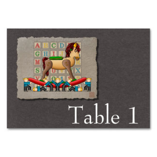 Amish Rocking Horse Table Card