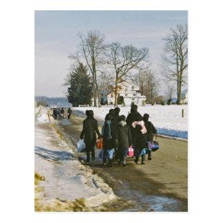 Amish School Day Postcard