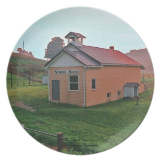 Amish School House Plate