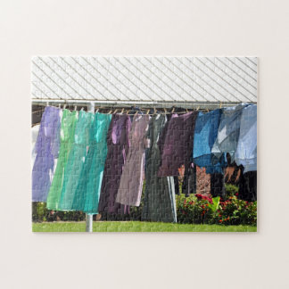 Amish Summer Laundry Jigsaw Puzzle