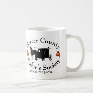 Amish Surfing Society coffee mug