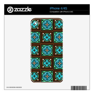 Amish Textile Print Decal For iPhone 4