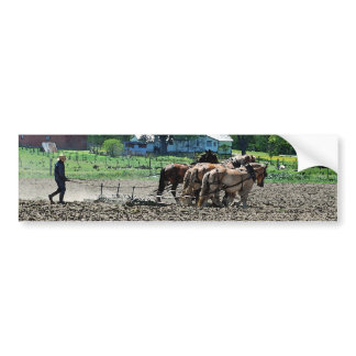 Amish Tractor Bumper Sticker