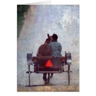 Amish Travel, Grunge Texture Digitally Added Card