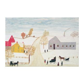 Amish Village Canvas Print