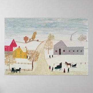 Amish Village Poster