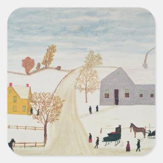 Amish Village Square Sticker