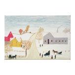 Amish Village Stretched Canvas Prints