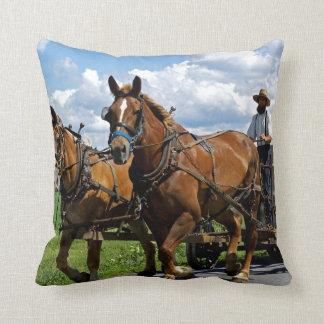 Amish Wagon Throw Pillow