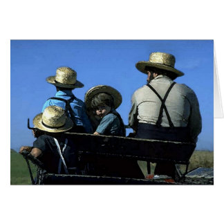 Amish Watercolor Card