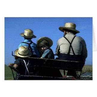 Amish Watercolor Greeting Card