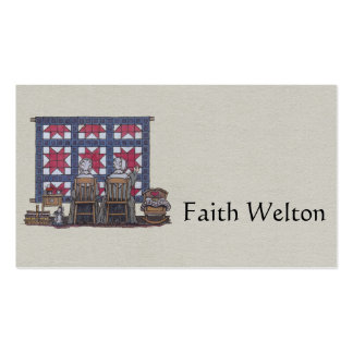 Amish Women Quilting Business Card