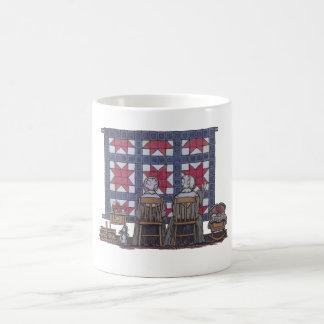 Amish Women Quilting Coffee Mug