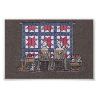 Amish Women Quilting Photo Print