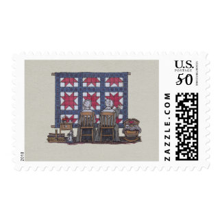 Amish Women Quilting Postage