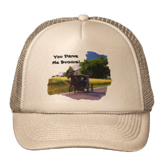 Amish You Drive Me Buggie Truckers Hat. Trucker Hat