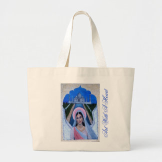 Amishi An Earthangel from India Large Tote Bag