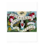 Amistad, amor, y verdad tarjeta postal