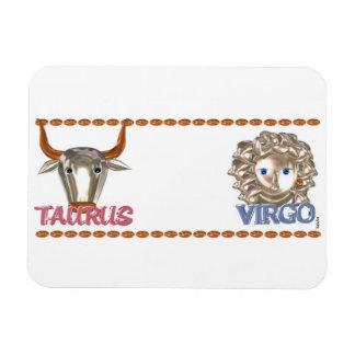Amistad de la astrología del zodiaco del virgo del imanes de vinilo