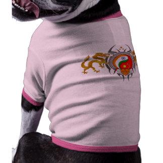 Amistad de la India China para la paz de mundo Camiseta Con Mangas Para Perro