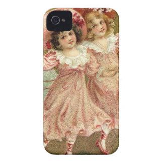 Amistad del el día de San Valentín del vintage Funda Para iPhone 4 De Case-Mate