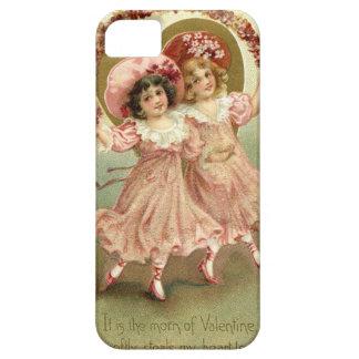 Amistad del el día de San Valentín del vintage Funda Para iPhone SE/5/5s